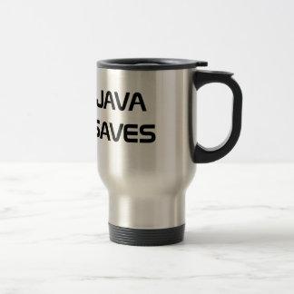 Java sparar kaffemuggen resemugg