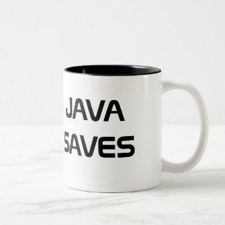Java sparar kaffemuggen Två-Tonad mugg