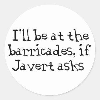 Javert Les Miserables Runt Klistermärke