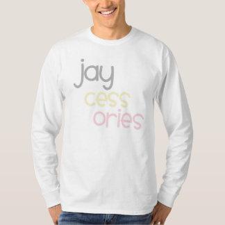 Jaycessories Long muff logotyputslagsplats Tee Shirt