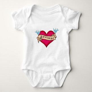 Jayden - beställnings- hjärtatatueringT-tröja & T-shirts