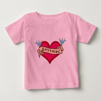 Jayden - beställnings- hjärtatatueringT-tröja & Tee
