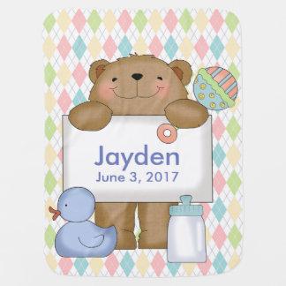 Jaydens bra gåvor för personlig för nyheternabjörn bebisfilt