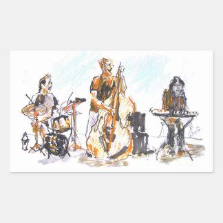 Jazz Trio Concert Rektangulärt Klistermärke