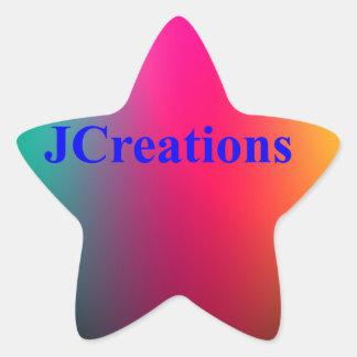 Jcreations bilder stjärnformat klistermärke