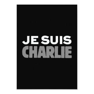 Je Suis Charlie - I-förmiddagCharlie svart 12,7 X 17,8 Cm Inbjudningskort