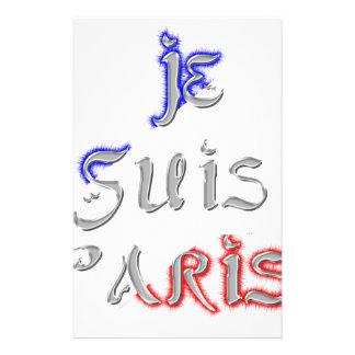 Je Suis Paris älskar jag Paris Brevpapper