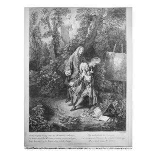 Jean Antoine Watteau och vänMonsieur Vykort