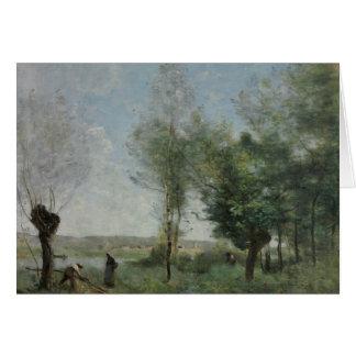Jean-Baptiste-Camille Corot - souvenir av Coubron Hälsningskort