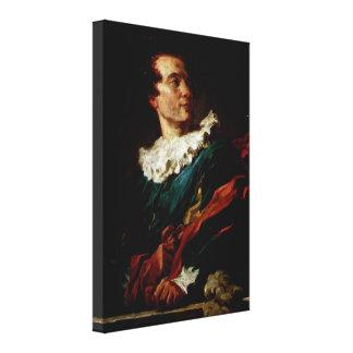 Jean-Honore Fragonard - abben de Sanktt-Non Canvastryck