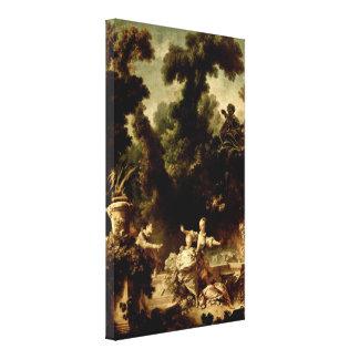 Jean-Honore Fragonard - förföljelse Canvastryck