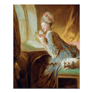Jean Honoré Fragonard kärlekbrev Poster