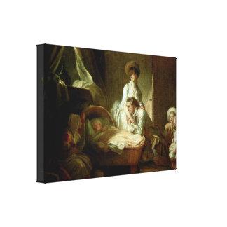 Jean-Honore Fragonard - på ugnen Canvastryck
