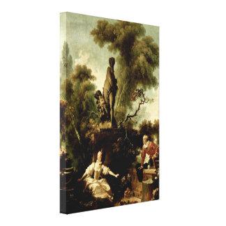 Jean-Honore Fragonard - stegen Canvastryck
