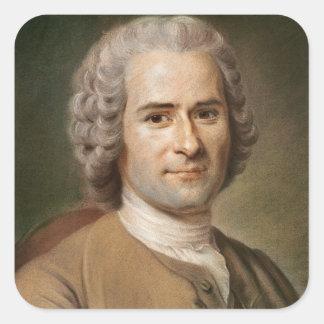 Jean-jacques Rousseau efter 1753 Fyrkantigt Klistermärke