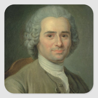 Jean-jacques Rousseau Fyrkantigt Klistermärke