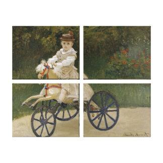 Jean Monet på hans hobbyhäst Canvastryck