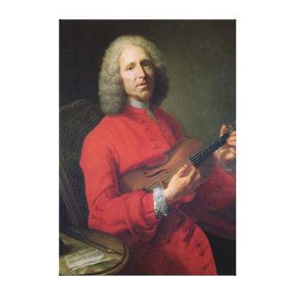 Jean-Philippe Rameau med en fiol Canvastryck