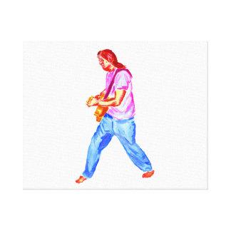 jeans för skjorta för akustisk gitarrspelare rosa canvastryck