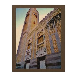 Jeddah moské trätavla