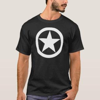 Jeepstjärna för vit WWII T-shirt