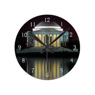Jefferson minnesmärke rund klocka