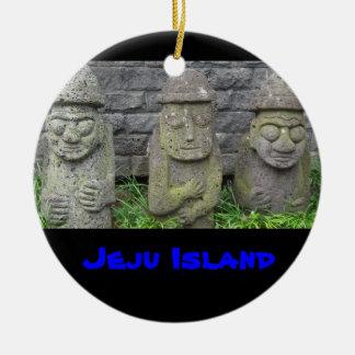 Jeju farfäder, Jeju ö Rund Julgransprydnad I Keramik