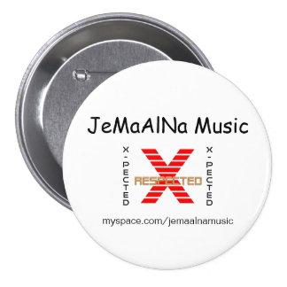 JeMaAlNa musik klämmer fast/knäppas Mellanstor Knapp Rund 7.6 Cm