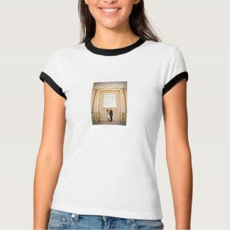 Jenifer & Gregs bröllopkvinna utslagsplats för T-shirts
