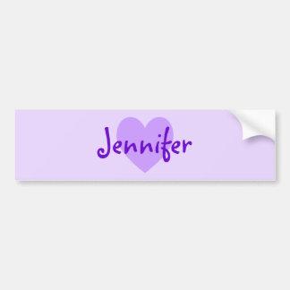 Jennifer i lilor bildekal