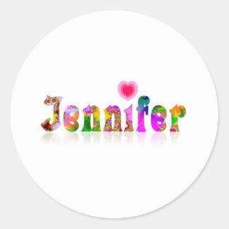 Jennifer Runt Klistermärke