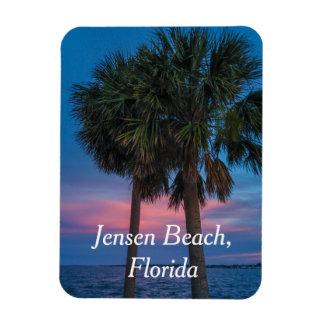 Jensen strandpalmträd och solnedgångmagnet magnet