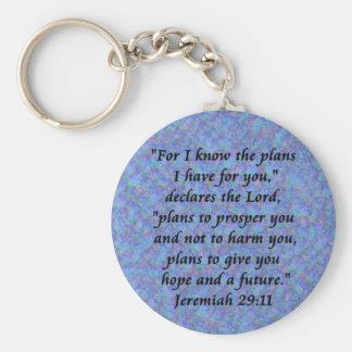 jeremiah 29-11 rund nyckelring