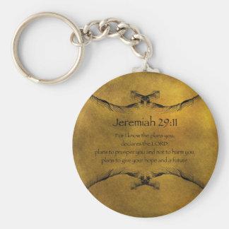 Jeremiah 29:11 rund nyckelring