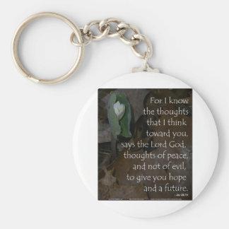 Jeremiah 29:11hopp inför framtiden rund nyckelring