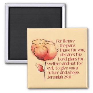 Jeremiah 29:11magnet -- För vet jag att planerar… Magnet