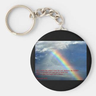 Jeremiah 29:11regnbåge rund nyckelring