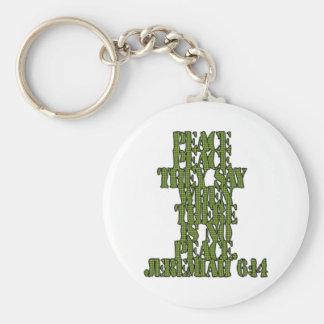 Jeremiah 6:14 rund nyckelring
