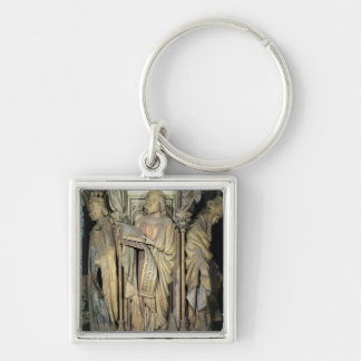 Jeremiah, David och Zacharias Fyrkantig Silverfärgad Nyckelring