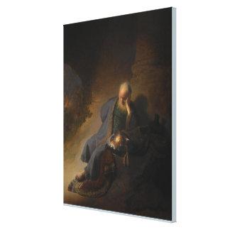 Jeremiah som beklagar förstörelsen av Jerusalem Canvastryck