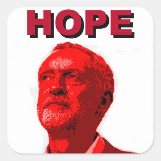 Jeremy Corbyn hopp Fyrkantigt Klistermärke