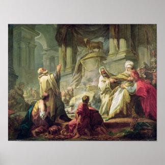 Jeroboam som offrar till den guld- kalven, 1752 poster