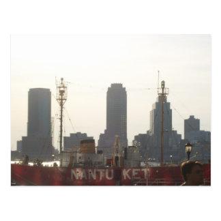 Jersey City som sett från Manhattan Vykort