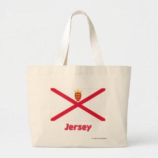 Jersey flagga med namn tygkasse