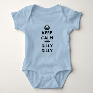 Jersey för baby för behållalugn- och DillyDilly Lt Tee