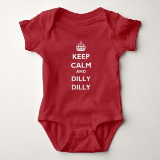 Jersey för baby för behållalugn- och DillyDilly Tshirts