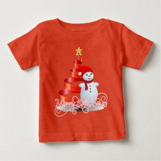 Jersey för bra för julsnögubbebaby T-tröja Tshirts