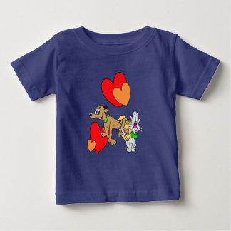 Jersey för katt- & hundtecknadbaby T-tröja Tshirts