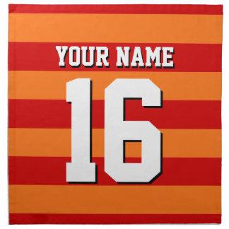 Jersey för orange rött lag för pumpa Preppy rand Tygservett
