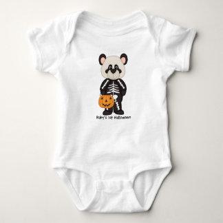 Jersey för PandaSkelleton 1st Halloween baby Tee Shirts